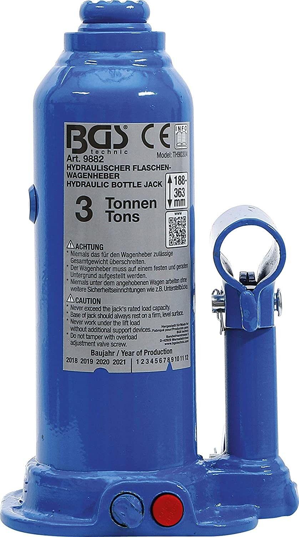 Cricco idraulico a Bottiglia 3000 Kg compatto BGS 9882