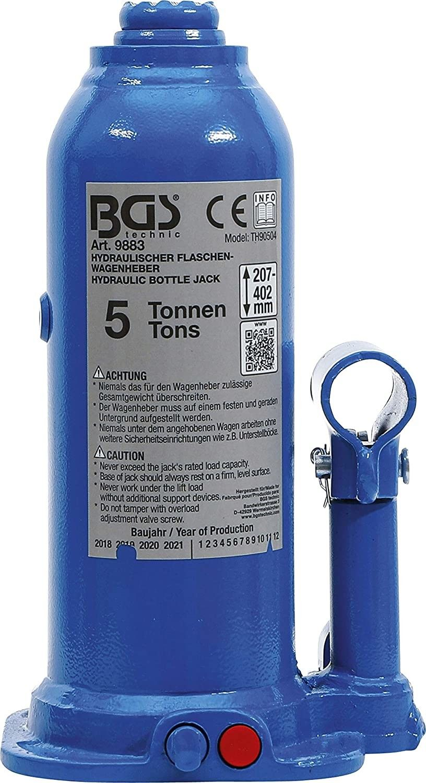 Cricco idraulico a Bottiglia 5000 Kg compatto BGS 9883