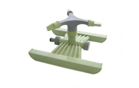 Irrigatore rotante a 3 braccia con slitta in plastica