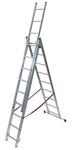 Scala a sfilo EURO STILO FACAL 3 rampe 9 + 9+ 9 scalini in alluminio made in Italy