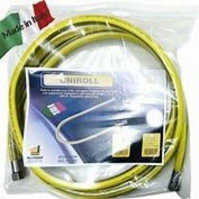 Tubo acciaio inox corrugato ricoperto per gas FF/MF L. 400 cm NORMA EN 15266