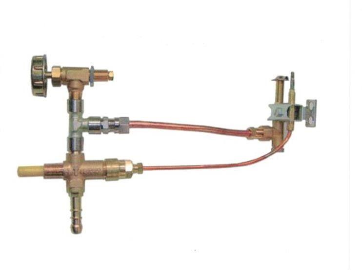rubinetto con valvola di sicurezza con termocoppia cm 25 e