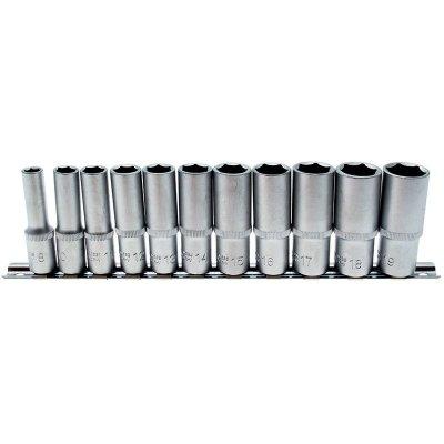 """Set 11 pz bussole esagonali tipo lungo attacco 3/8"""" 8-19 mm BGS 2222"""