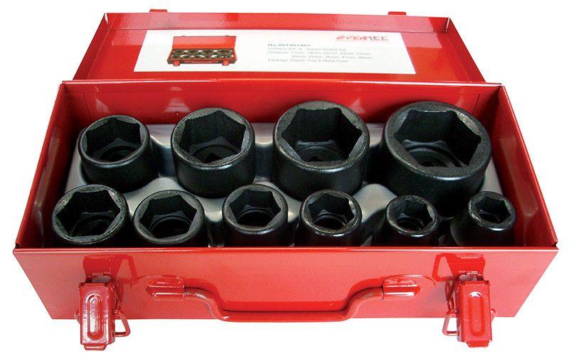 """Cassetta metallica pezzi 10 bussole macchina esagonali attacco 3/4"""" FERMEC 199146"""