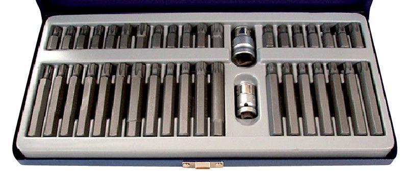 Cassetta 40 pz assortiti inserti attacco 10 mm XZN-TORX-RIBE FERMEC 2740