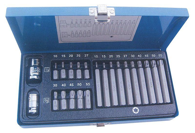 Cassetta 22 pz inserti attacco 10 mm TORX assortiti FERMEC 5714