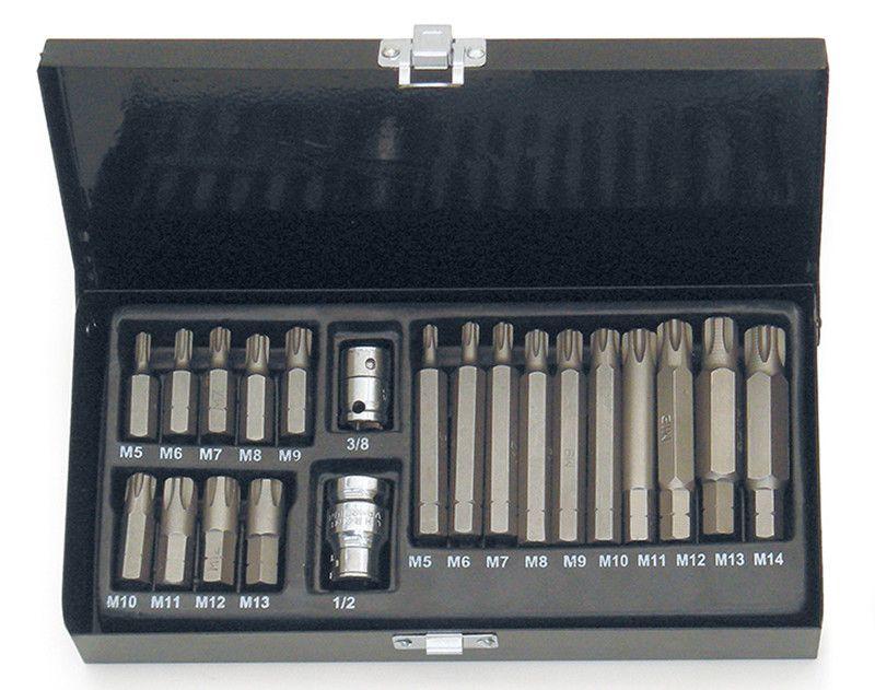 Cassetta 21 pz inserti attacco esagono 10 mm RIBE assortiti FERMEC 5735