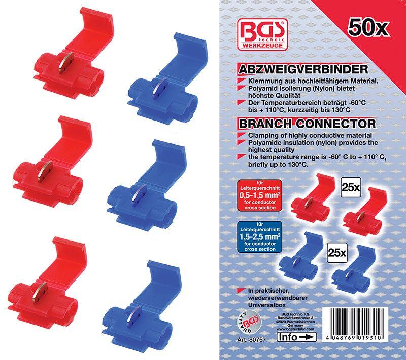 Assortimento 50 pz connettori rapidi BGS 80757