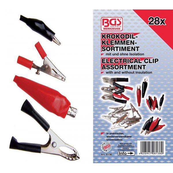 Assortimento 28 pz pinzette elettriche BGS 8138