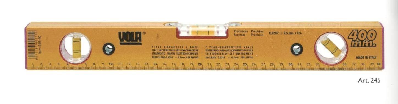 Livella alluminio a 3 bolle regolabile cm 120 VOLA 245