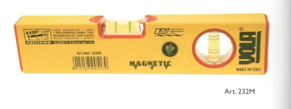 Livella a 2 bolle a base magnetica cm 22 VOLA 232M