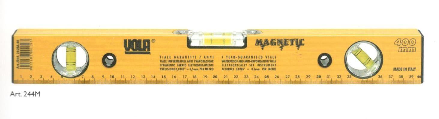 Livella alluminio base magnetica a 3 bolle cm 40 VOLA 244M