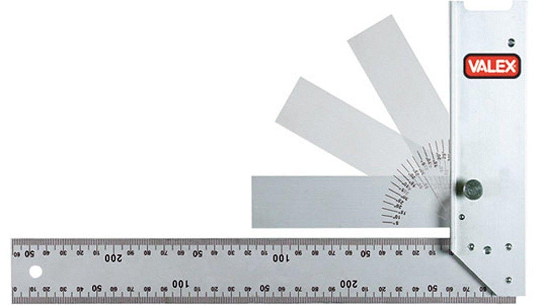 Squadra in alluminio con goniometro a scomparsa VALEX 1800707