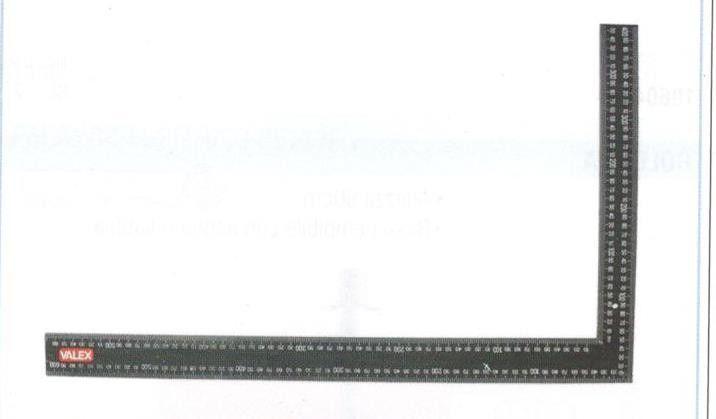 Squadra fissa 90 gradi millimetrata mm 600x400 VALEX