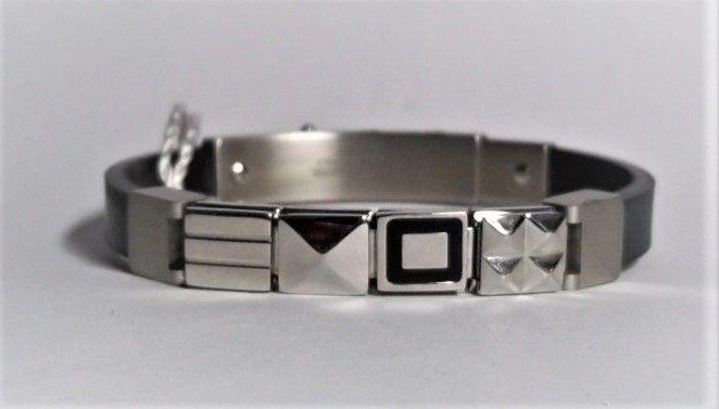Nomination bracciale acciaio e caucciù ref. 025502/002
