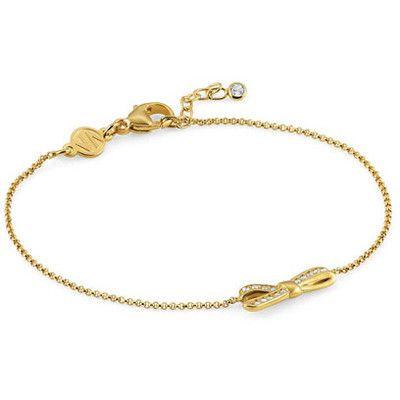 Nomination bracciale argento dorato ref.146301/012