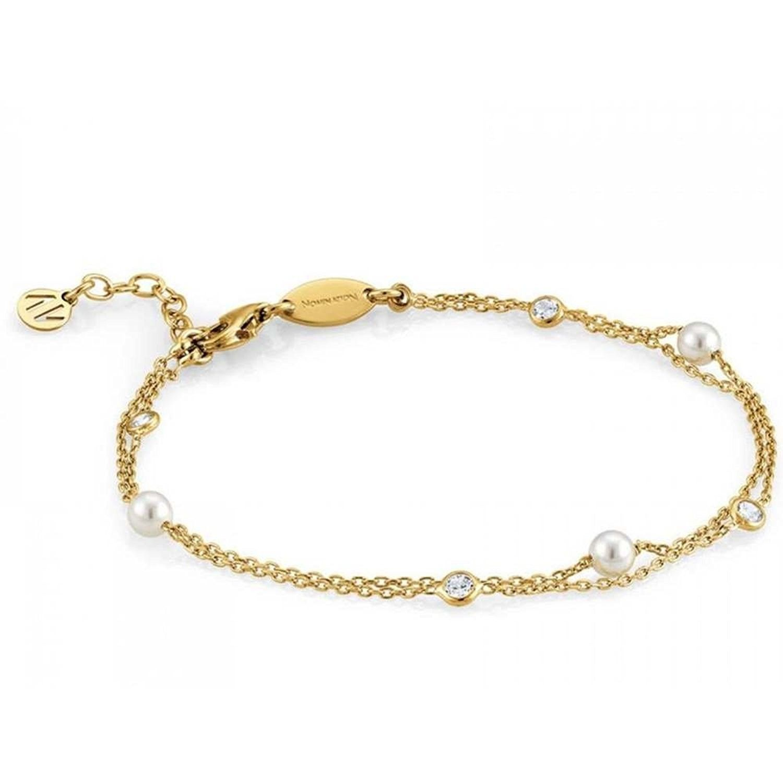 Nomination bracciale argento dorato ref. 142655/012