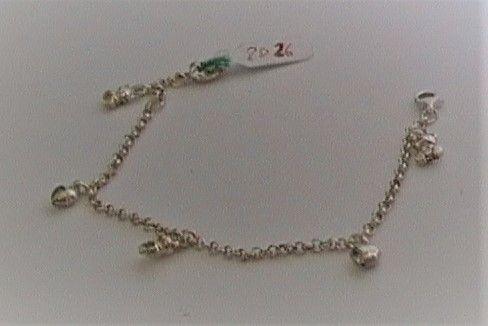 Silver bracciale con pendenti ref. 2026