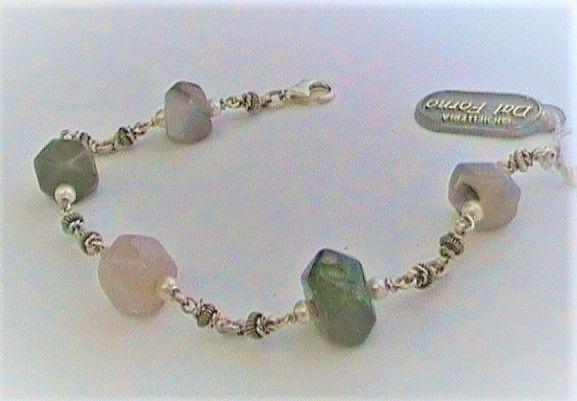 Silver bracciale con pietre naturali ref.101