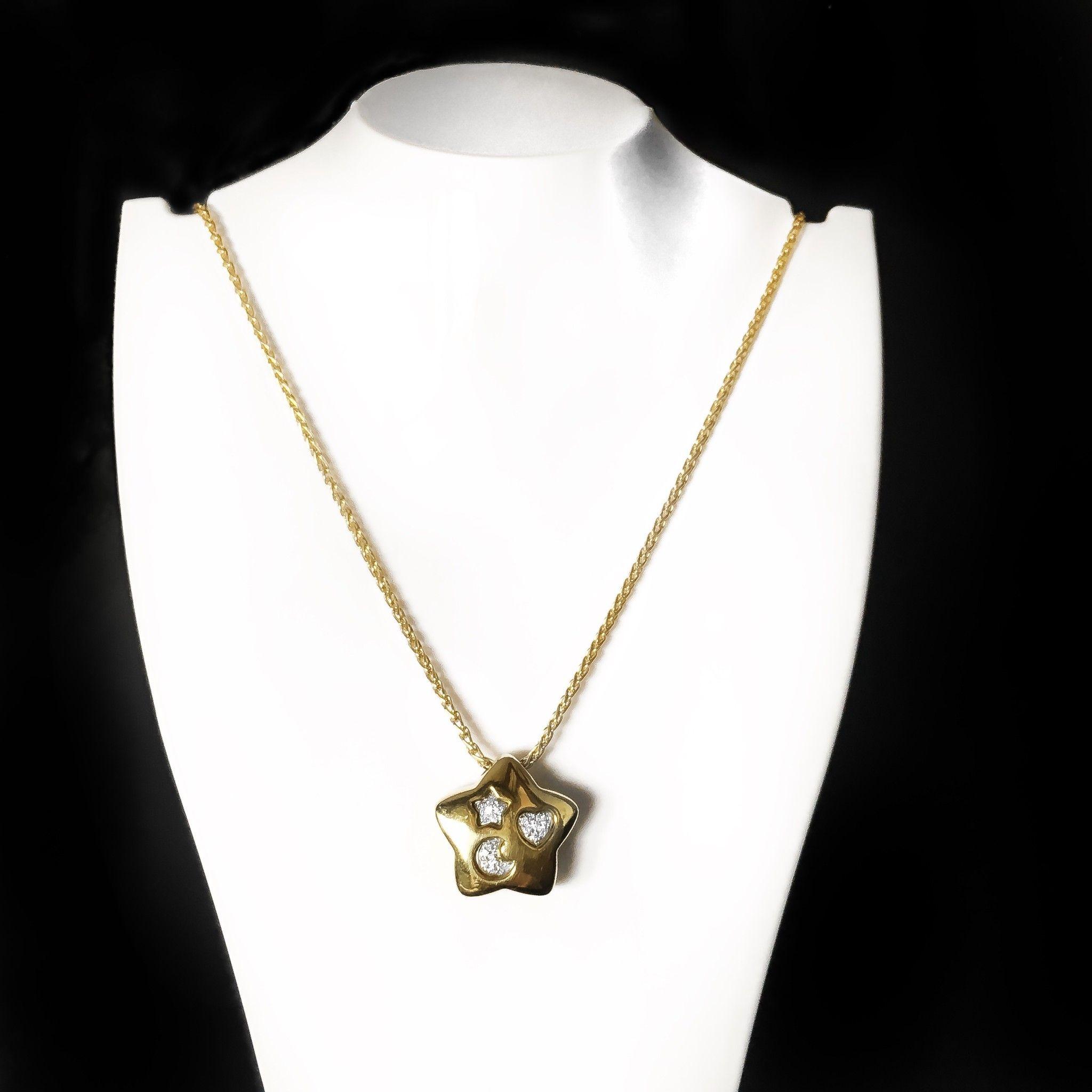 Girocollo stella in oro e diamanti ref. PQ5412