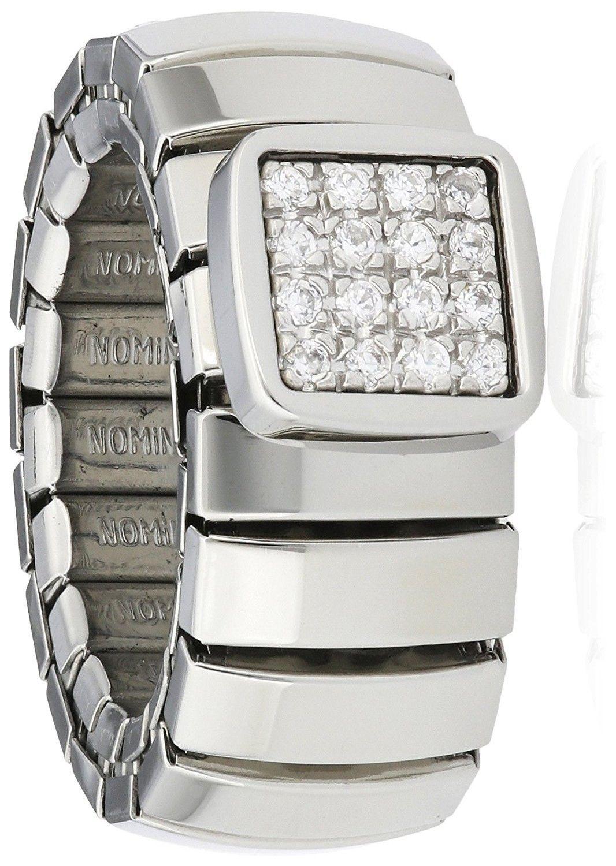Nomination anello acciaio con Cubic Zirconia ref. 043601/001