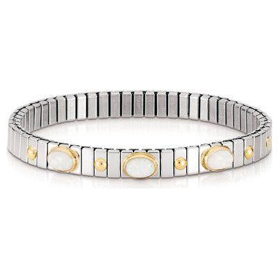 Nomination bracciale acciaio e oro con opale