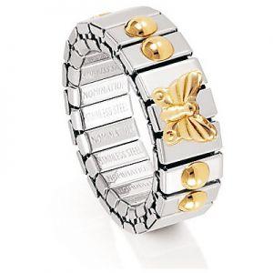 Nomination anello acciaio e oro ref. 040001/003