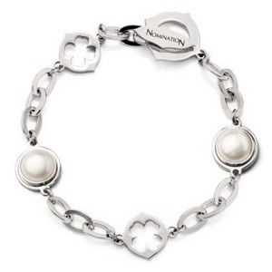 Nomination bracciale acciaio con perle ref. 023411/004