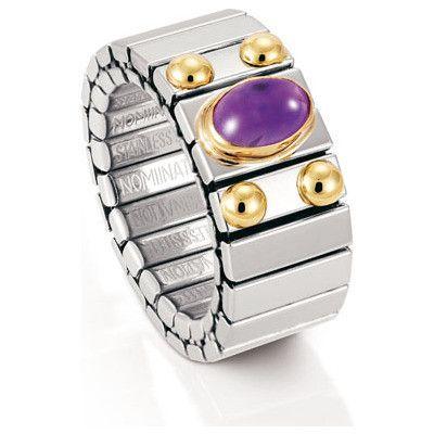 Nomination anello  acciaio e oro  ref.040121/002
