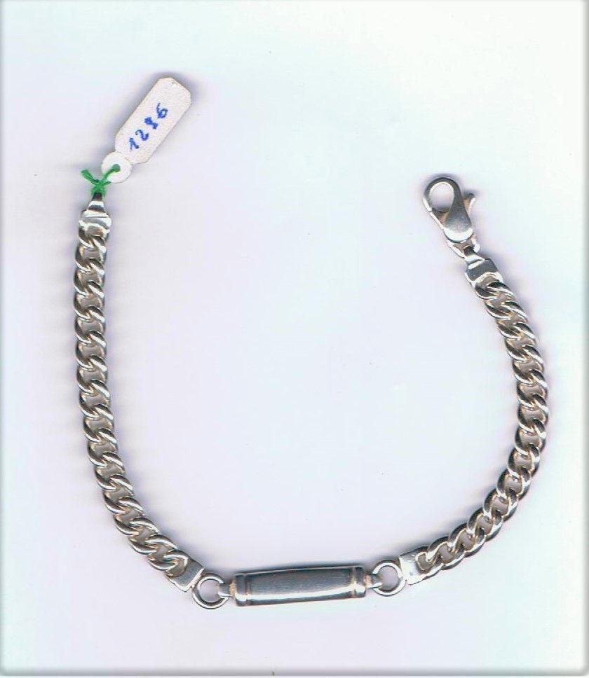 Silver Bracciale targa ref. 1296