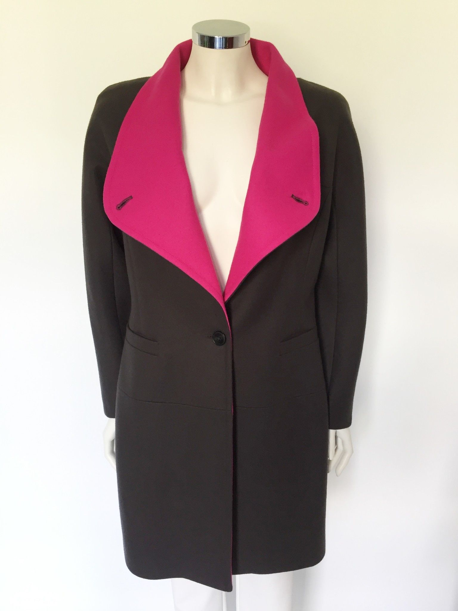 Overcoat with wide neck Cod.13502