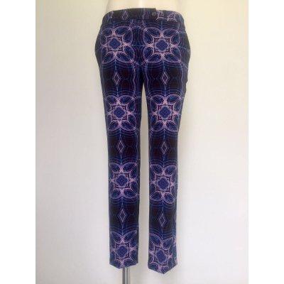 Pantalone Atos Lombardini Fantasia Optical lunghezza caviglia Cod.13I425