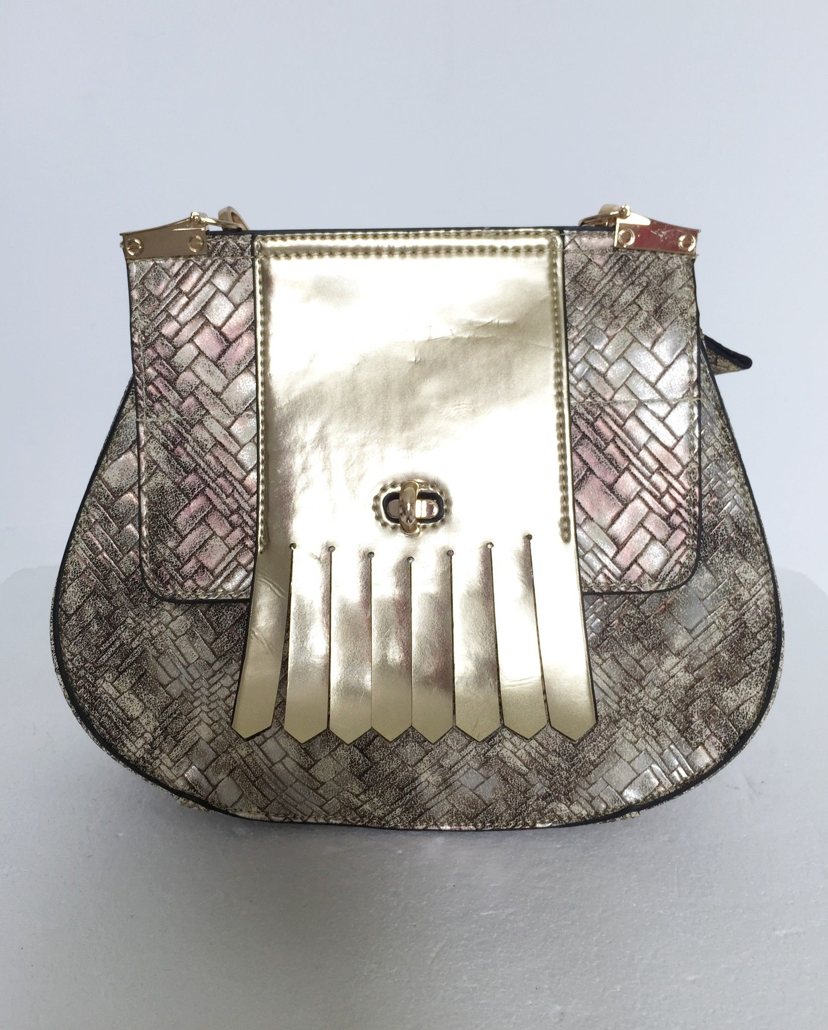 Golden LadyBug Model Saddle shoulder bag with Fringe Cod.2832