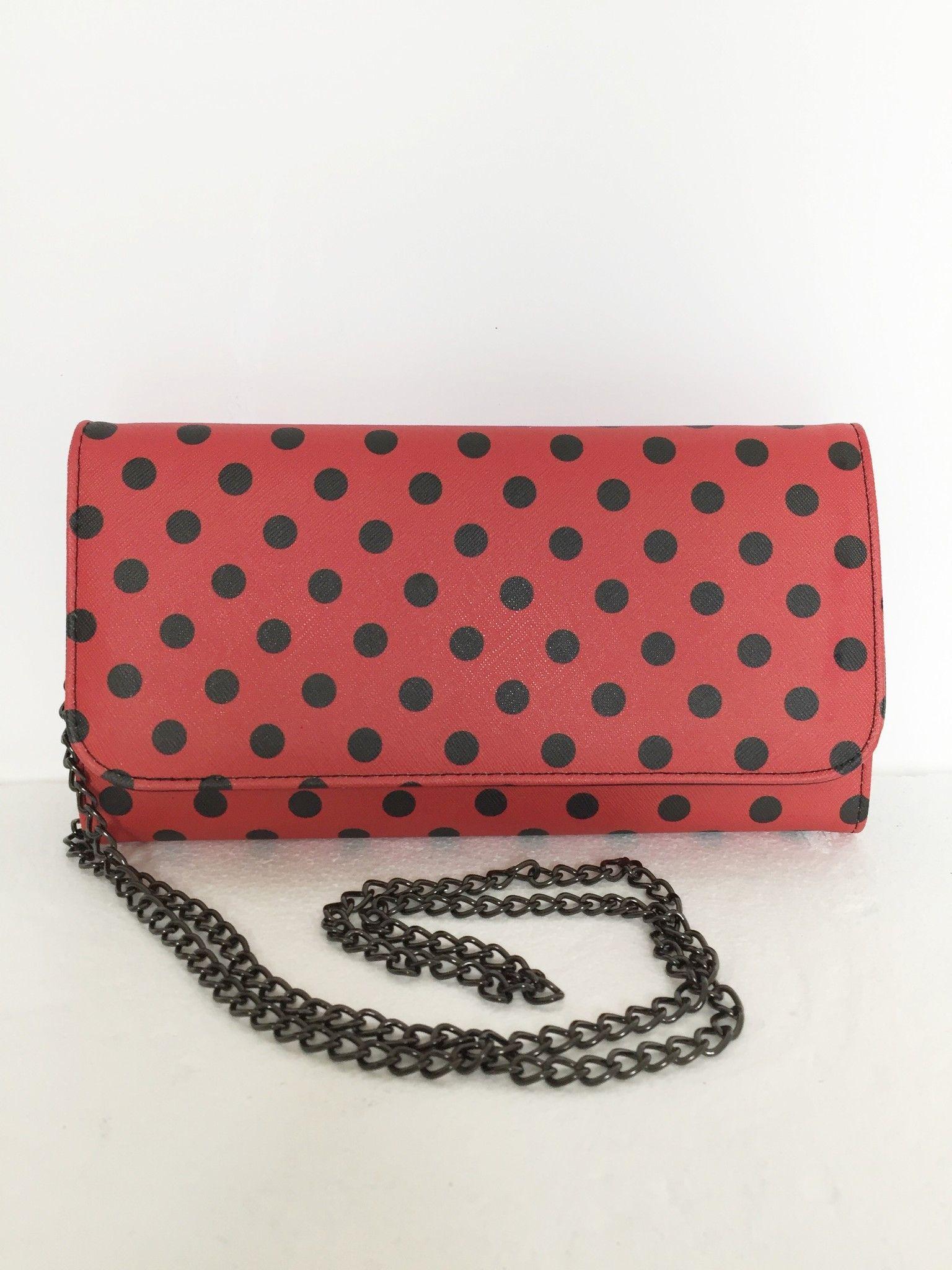 LadyBug clutch bag with metallic strap Cod.5624