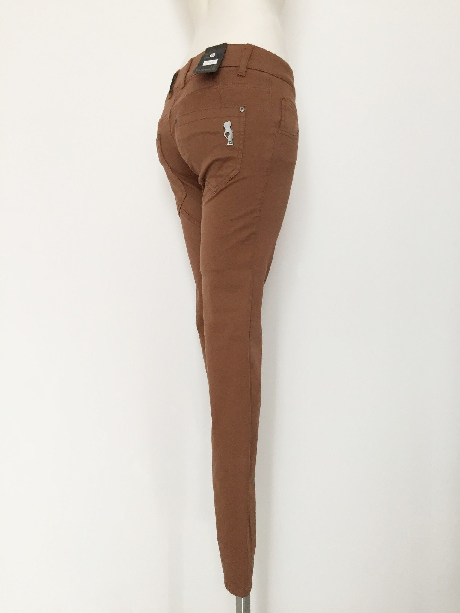 Sexy Woman Long jeans button fastening Cod.P1148161