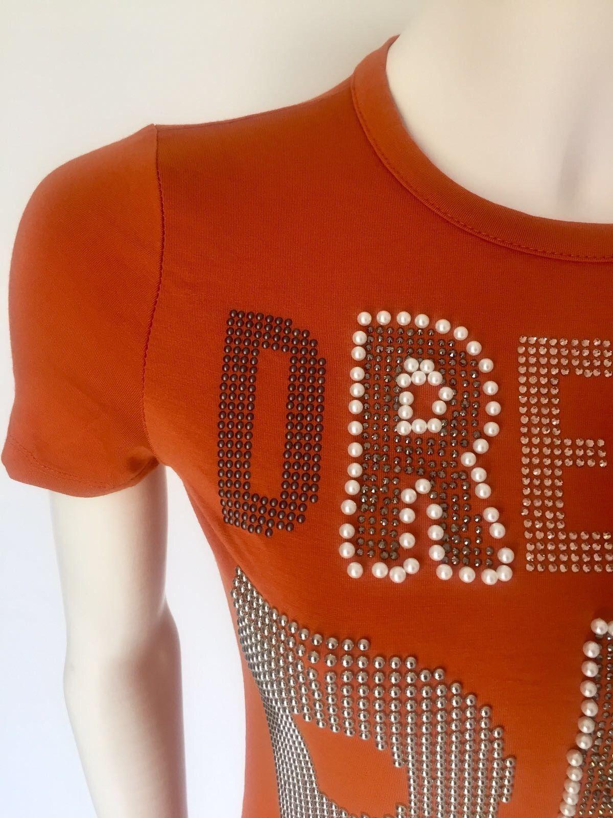 T-Shirt LadyBug Mezzamanica con Perle, Borchie e Swarovski Cod.RQ0057