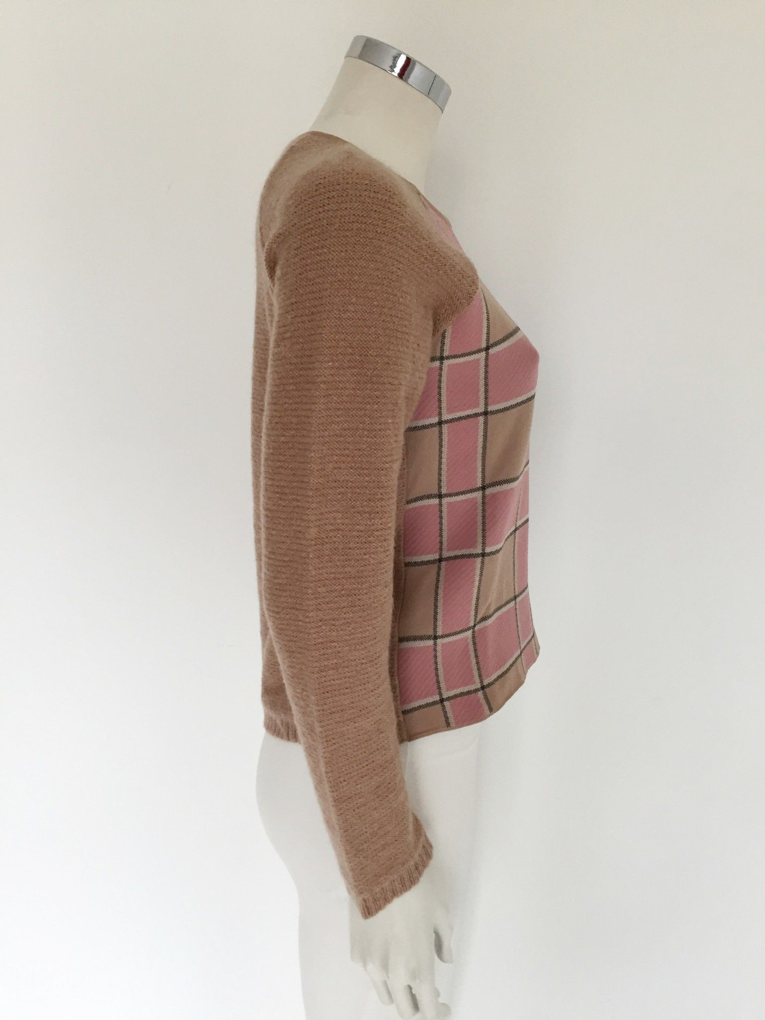 Katia G. Short Sweater Plaid Insert Cod.K34607M