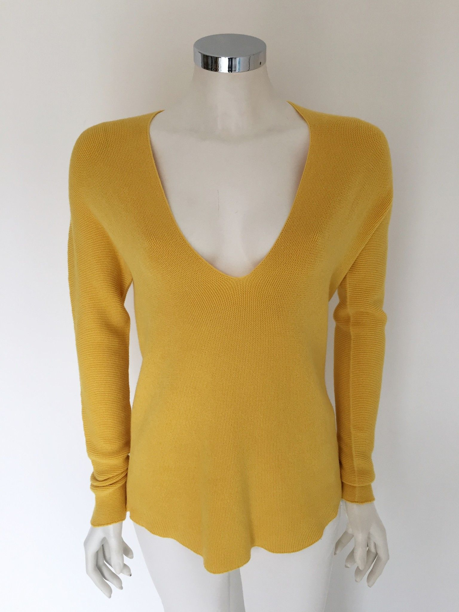 LadyBug Long Sweater with Deep V Neck Cod.7043Q