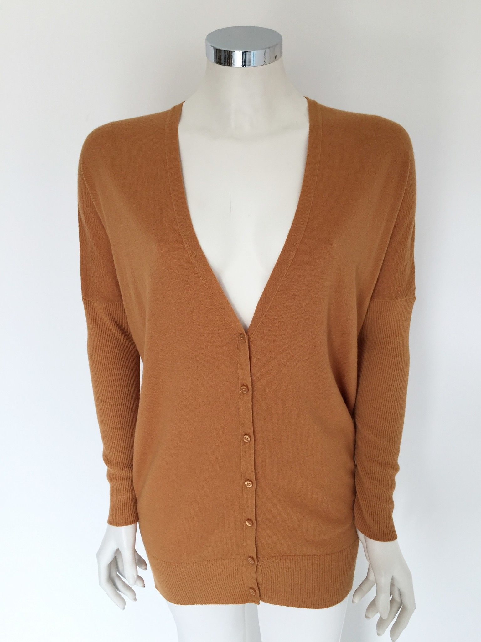 Hanita V-Neck Cardigan Over Long Cod.Tess126