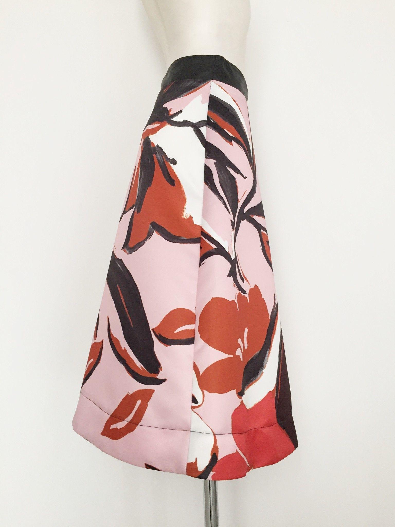 LadyBug Long Flared Skirt Floral Design Cod.618LR