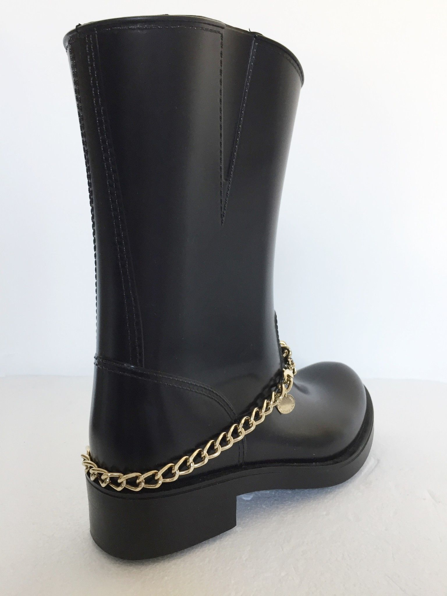 Atos Lombardini Rubber boots with golden chain Cod.0003