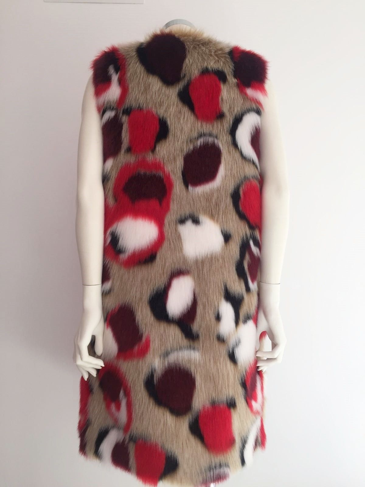 LadyBug Spotted faux fur trim Gilet Cod.414265