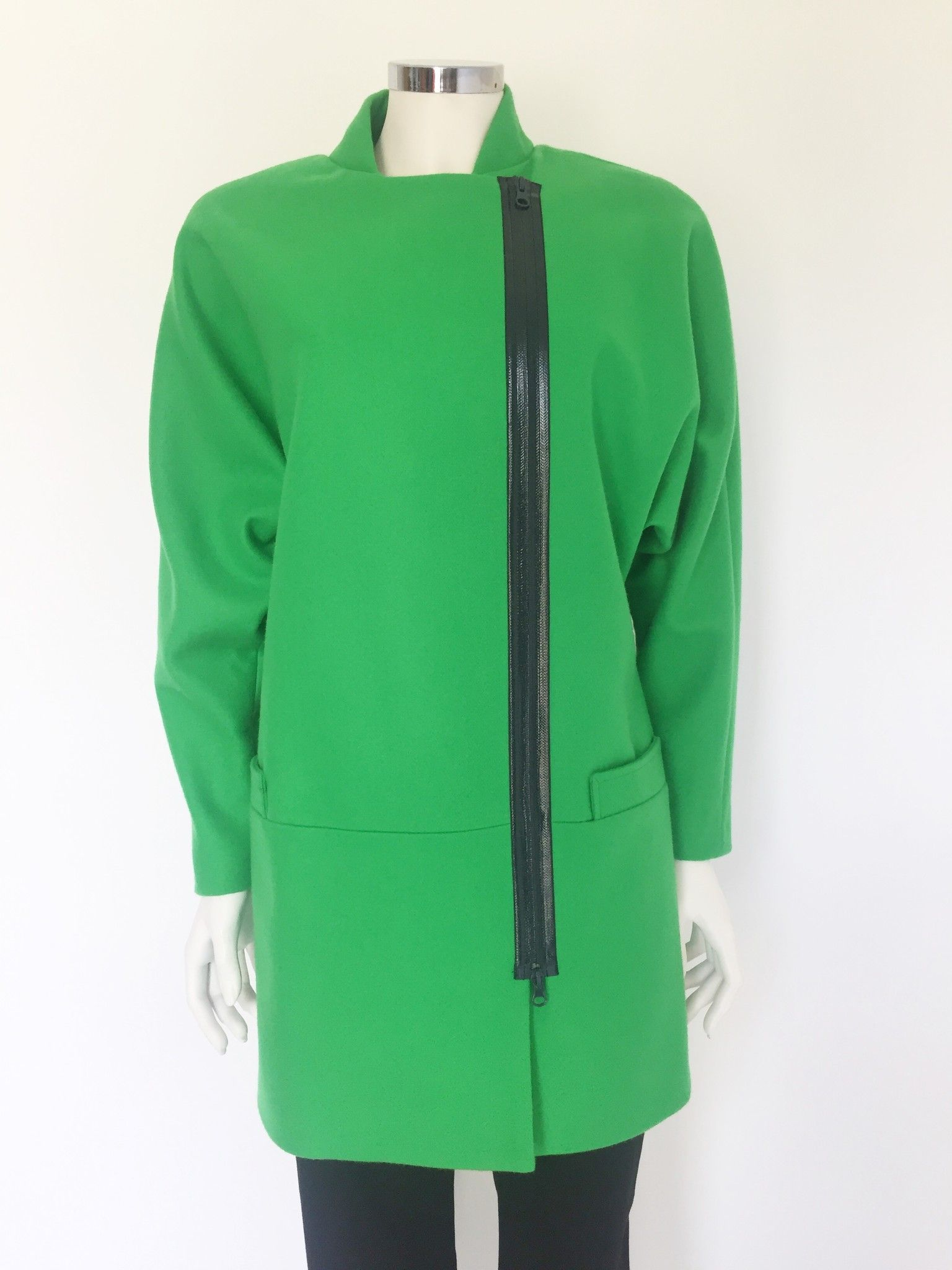 Space Overcoat with side zipper Cod.AI135006