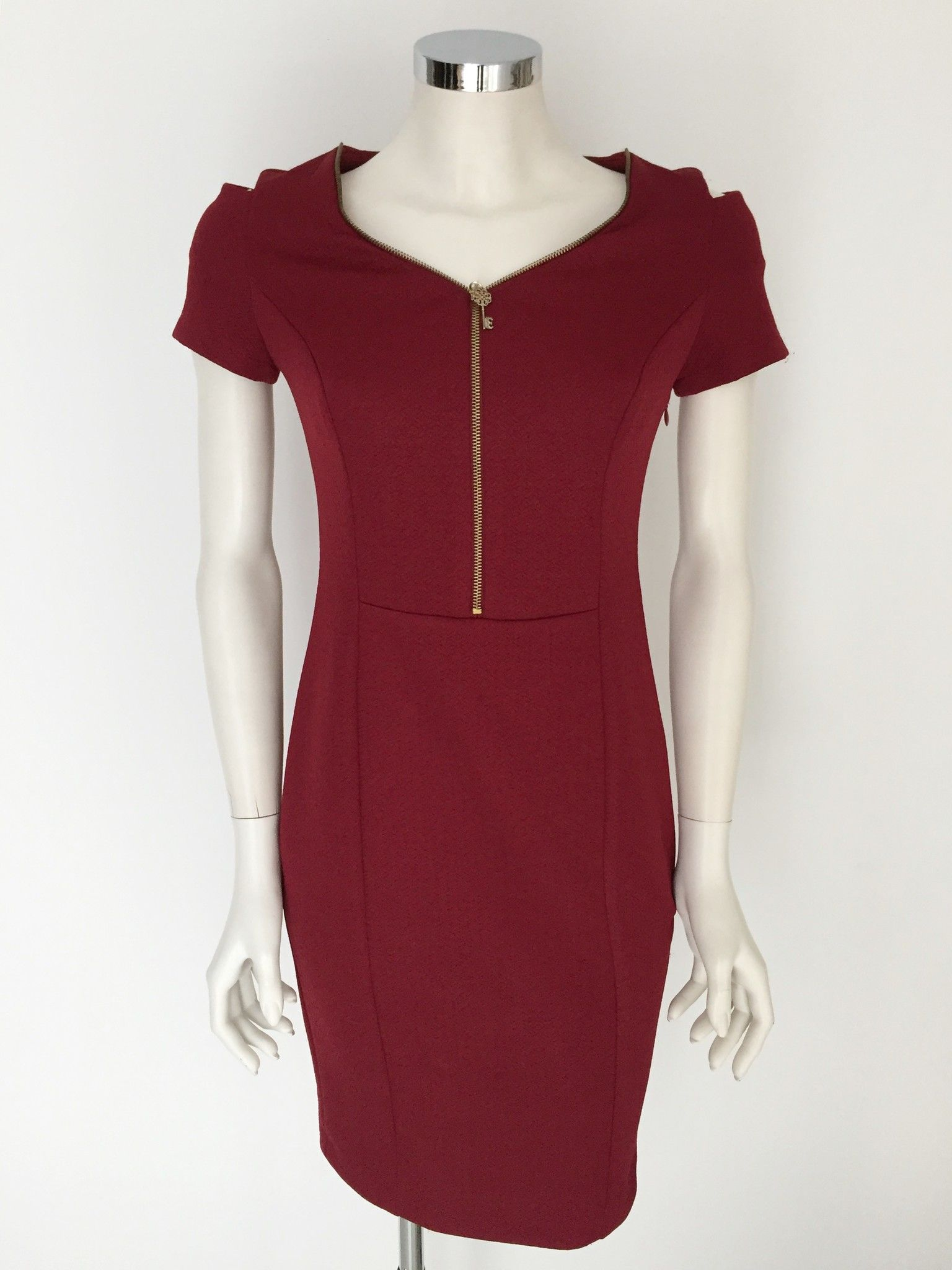 LadyBug Short sleeve dress with Golden Zipper Cod.641D