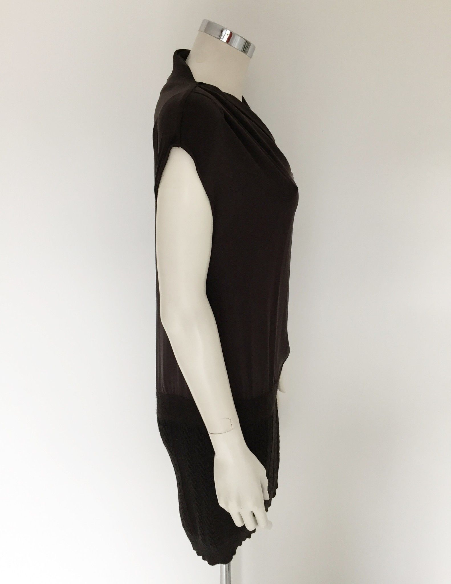 Katia G. Sleeveless wool dress with silk Panel Cod.10245