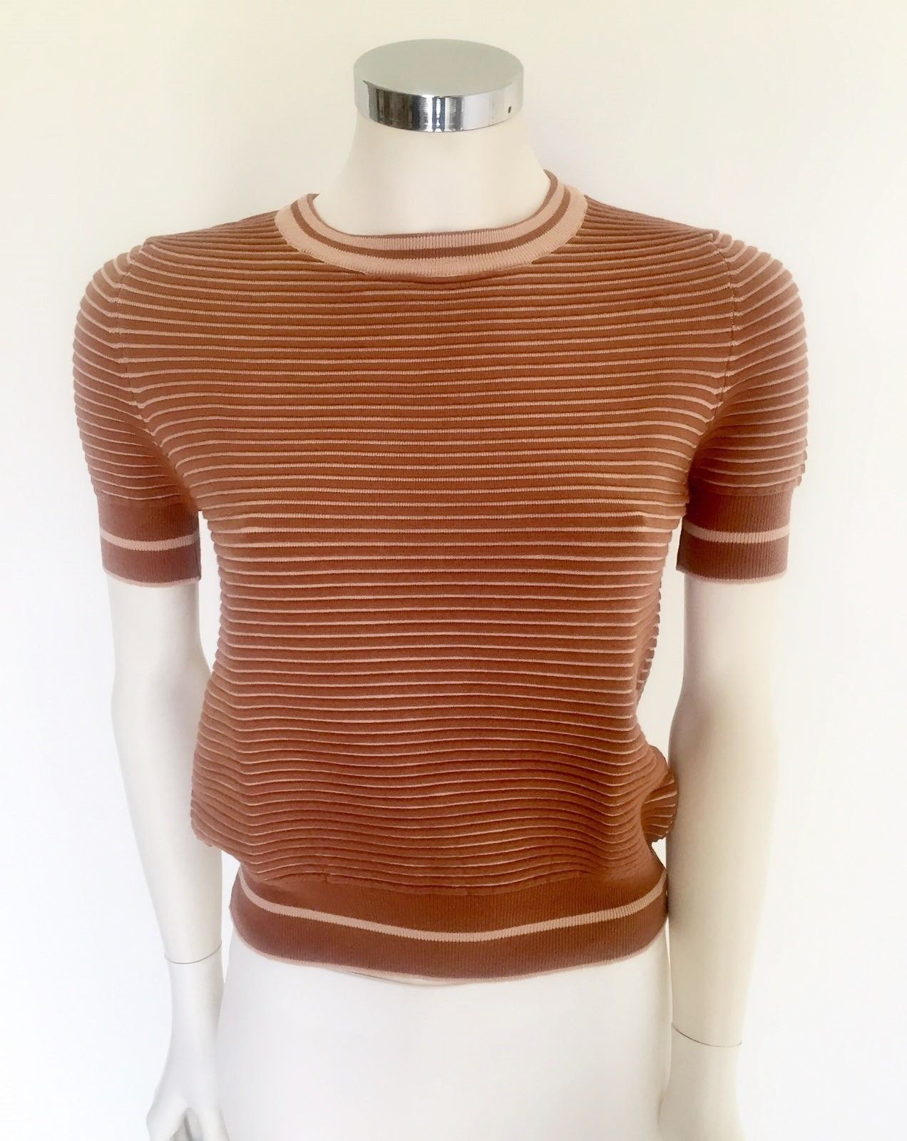 LadyBug Sleeved Two-tone Striped Sweater Cod.2024
