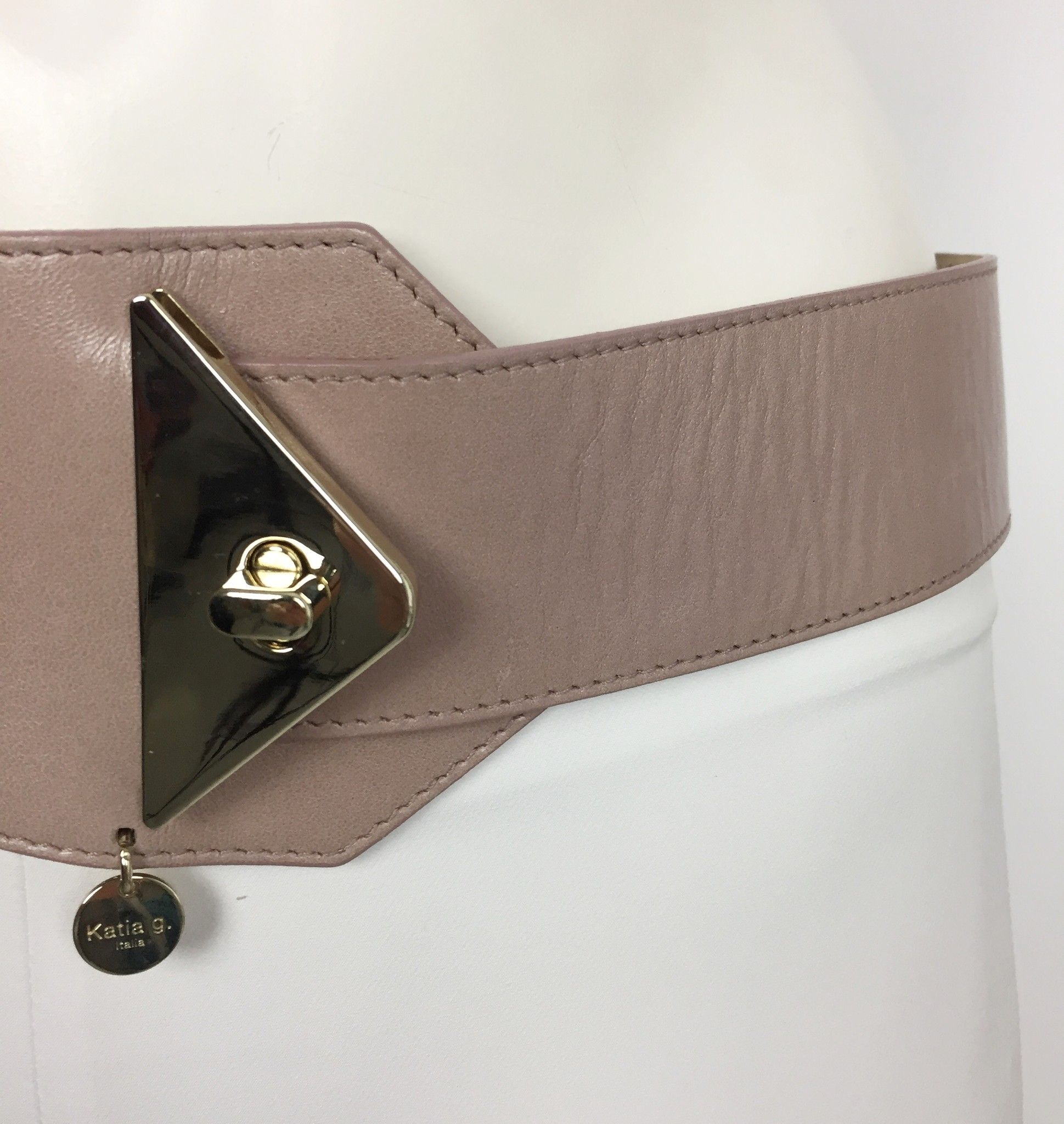 Katia G. Elastic Belt with Gold Buckle Cod.354862