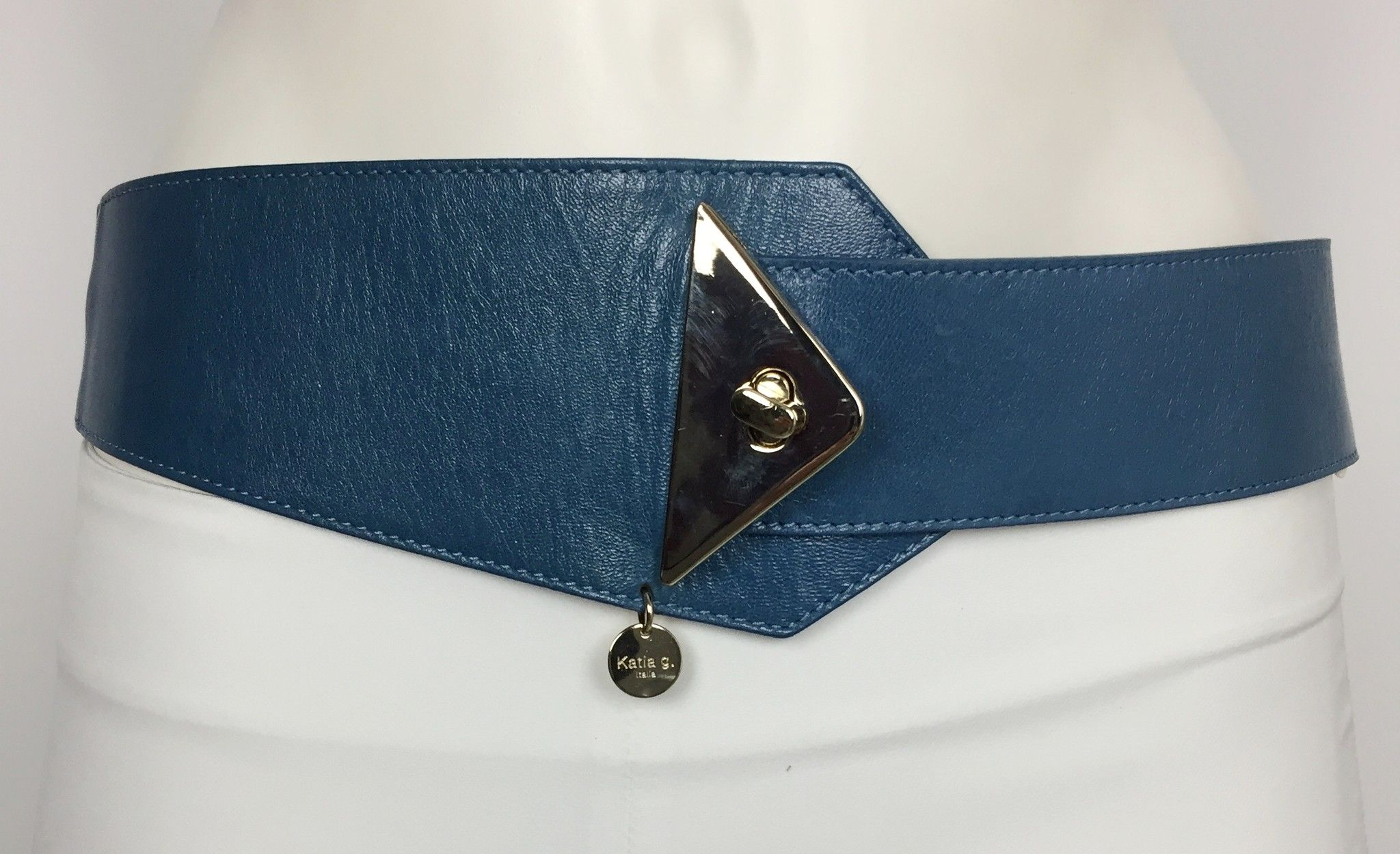 Cintura Katia G. Alta Elastica Dietro con Fibbia Dorata Cod.354862
