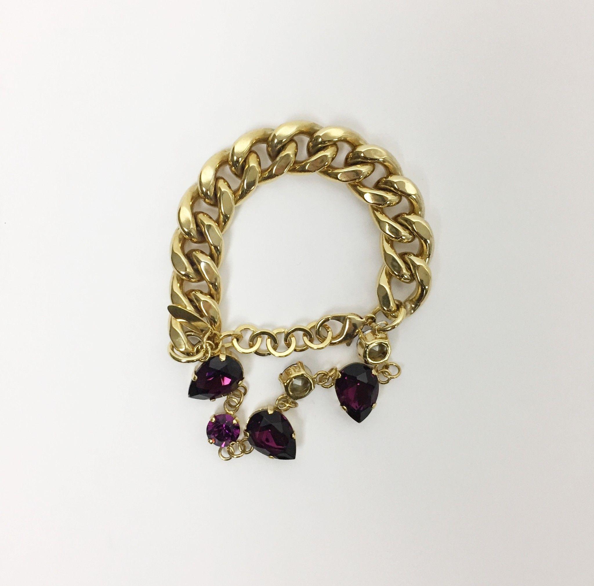 Atos Lombardini Gold Chain Bracelet with Stones Cod.348251