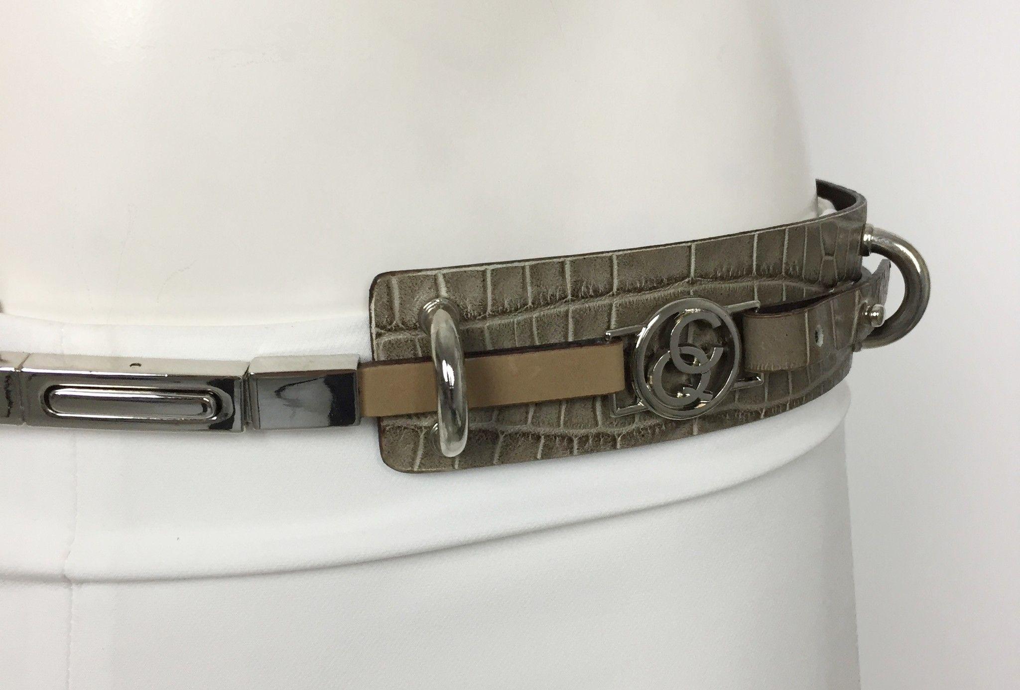Cintura Carolina 40 in Stampa Cocco Vera Pelle Cod.9846544